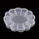 Recipientes de almacenamiento de abalorios de plástico de floresCON-Q023-21-1