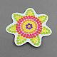 Цветочные поделки hama бисер бусины картонные шаблоныX-DIY-S002-17A-1