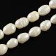 Grado de hebras de perlas de agua dulce cultivadas naturalesA23WM012-1