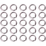 PandaHall Elite about 1425 pcs Brass Jump Rings Close but Unsoldered, Silver, 5x1mm