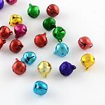 Charms campana de aluminio, color mezclado, 7~8x6x5mm, agujero: 1 mm