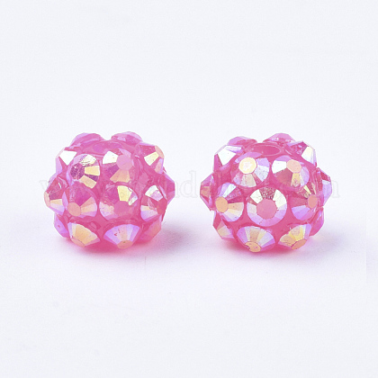 AB-Color Resin Rhinestone Beads RESI-S315-8x10-09-1