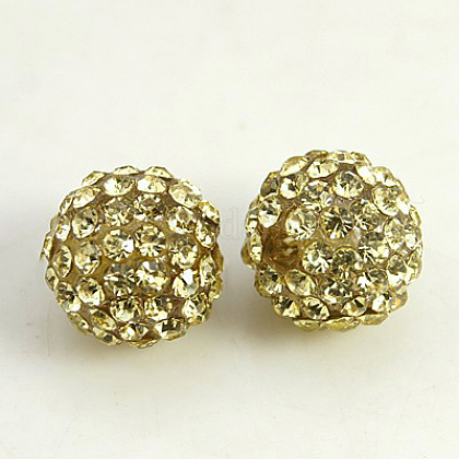 Resin Rhinestone Beads RB-A025-8mm-A13-1