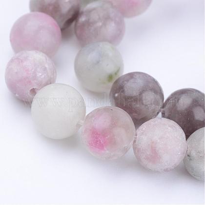 Chapelets de perles en jade lilas naturelG-Q462-6mm-29-1