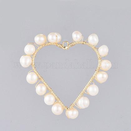 Colgantes naturales de perlas cultivadas de agua dulceX-PALLOY-JF00400-1