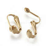 Vacuum Plating 304 Stainless Steel Clip-on Earring Findings, Golden, 16x7.5x10mm