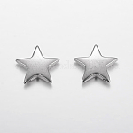 304 Stainless Steel Stamping Blank Tag Pendants, Christmas Star, Size: about 13.5mm in diameter, 2.5mm thick, hole: 1mm
