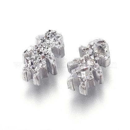 Perlas de resina de piedras preciosas druzy imitaciónRESI-L026-J05-1