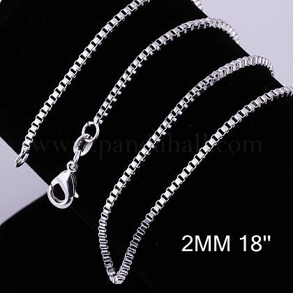 Brass Box Chain Necklace MakingNJEW-BB10859-18-1