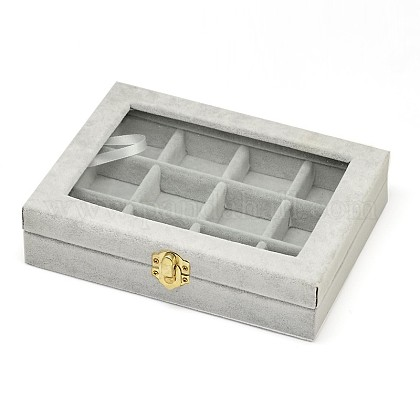 Wooden Rectangle Jewelry BoxesOBOX-L001-04D-1