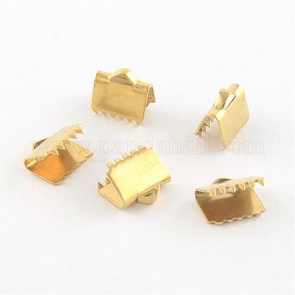 304ステンレス鋼リボンカシメエンドパーツSTAS-Q187-03G-1