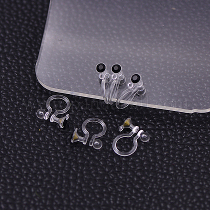 Plastic Clip-on Earring FindingsX-KY-P007-M05-1