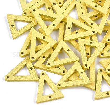 Enlaces de madera de álamo pintadosWOOD-S045-071F-1