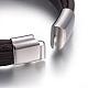 Cordón de cuero pulseras de varias vueltasBJEW-E352-38A-P-3