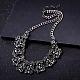 Mujeres de la moda de joya de zinc collares del collar de rhinestone de cristal de aleación babero declaración gargantillaNJEW-BB15143-D-8