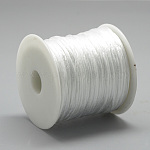 Nylon Thread, Rattail Satin Cord, White, about 1mm; about 75m/roll