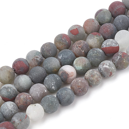 Natural African Bloodstone Beads Strands G-T106-152-1
