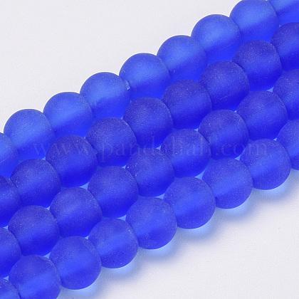 Chapelets de perles en verre transparente  GLAA-Q064-09-10mm-1