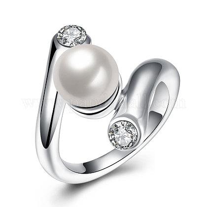 Los anillos de dedo de abalorios de imitaciónRJEW-BB17609-8-1