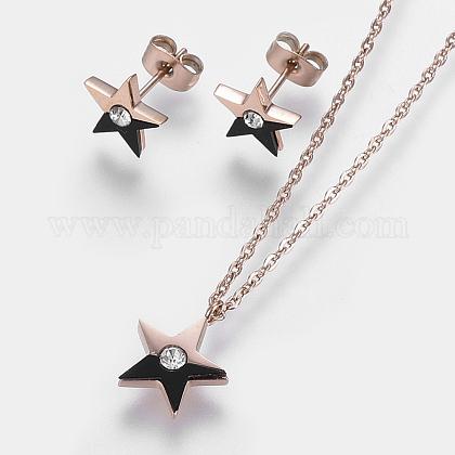 304 Stainless Steel Jewelry SetsSJEW-O088-02RG-1