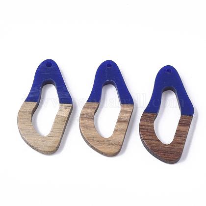 Colgantes de resina y madera de nogalRESI-S358-25B-1