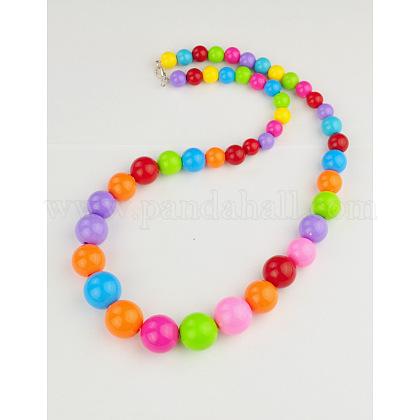 Acrylic Beaded NecklacePJN106-17-1