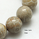 Cuentas de piedra de crisantemo natural hebrasX-G-G212-8mm-31-1
