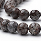 Натуральные коричневые бусины из обсидиана снежинкаG-S272-02-10mm-3