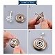 Laiton bélières donut spiraleKK-L031A-59S-6