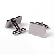 Rectangle 304 Stainless Steel Cufflinks STAS-H317-83-1