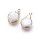 Colgantes naturales de perlas cultivadas de agua dulcePEAR-P059-Q01-4