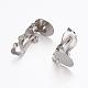 Brass Clip-on Earring SettingsKK-K225-06-P-2