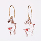 Alloy Enamel Dangle Earrings EJEW-JE03390-01-1