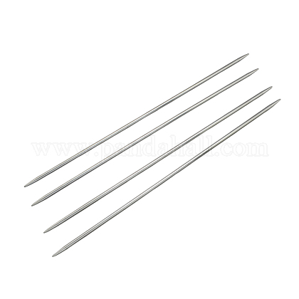 Agujas de tejer de doble punta de acero inoxidableTOOL-R044-240x3.5mm-1
