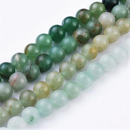 Natural Green Aventurine Beads StrandsX-G-Q462-8mm-20-1