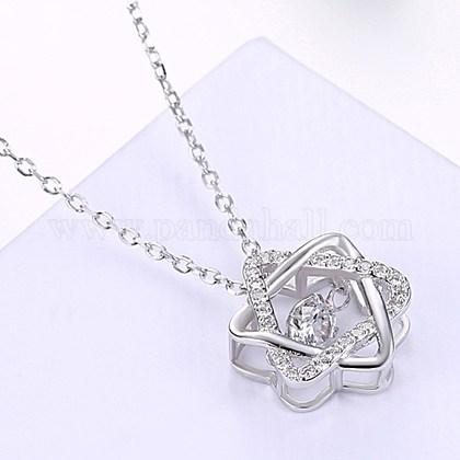 Collares pendientes de la plata esterlina lindaNJEW-BB29122-1