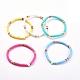 Handmade Polymer Clay Heishi Bead Stretch BraceletsBJEW-JB05077-1