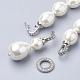 Collares de perlas de concha sintéticaNJEW-Q310-02A-3