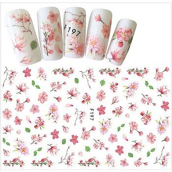 Stickers autocollants à ongles, pour la conception d'art d'ongle, motif de fleur, colorées