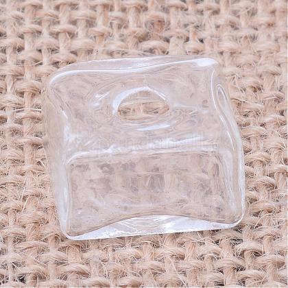 Blown Glass Wishing Bottle Bubble VialAJEW-Q115-35-1