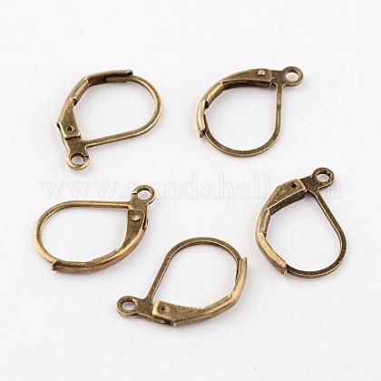 Antique Bronze Brass Leverback Earring FindingsX-EC223-NFAB-1