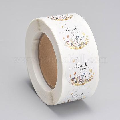 Etiquetas autoadhesivas de etiquetas de regalo de papel kraftDIY-G013-A06-1