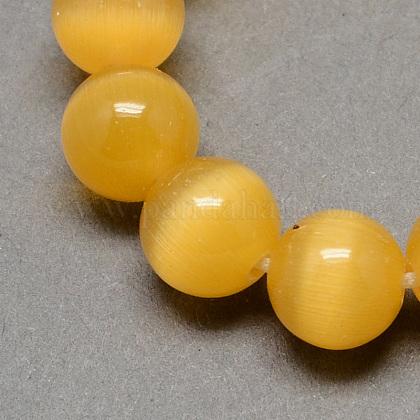 Chapelets de perles d'œil de chatCE-R002-6mm-18-1