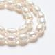 Grado de hebras de perlas de agua dulce cultivadas naturalesA23WM011-01-3