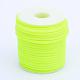 Tubo hueco pvc tubular cordón de caucho sintético, envuelta alrededor de la bobina de plástico blanco, verde amarillo, 3mm, agujero: 1.5 mm; aproximamente 25 m / rollo