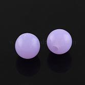 Perlas de acrílico fluorescentes, redondo, lila, 8mm, Agujero: 1.5 mm; aproximamente 1700 unidades / 500 g