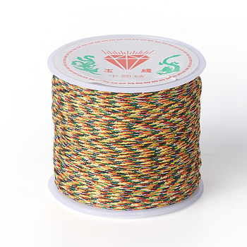 Nylon Cord for Jewelry Making, Colorful, 0.8mm; about 45m/roll