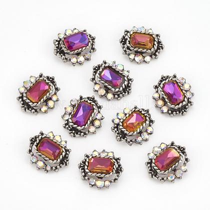 Cabochons Diamante de imitación de la aleaciónMRMJ-T012-14B-1