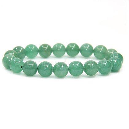 SUNNYCLUE® Natural Green Aventurine Round Beads Stretch BraceletsBJEW-PH0001-10mm-24-1