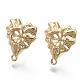 Brass Stud Earring FindingsKK-N230-02-NF-1